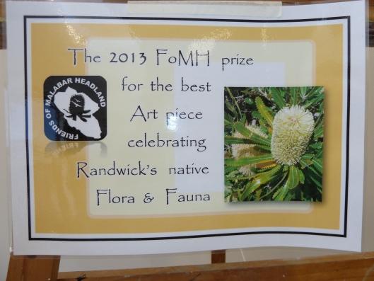 Friends of Malabar Headland Prize citation
