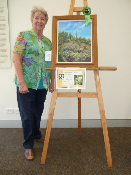 Marilyn Kime with her winning entry